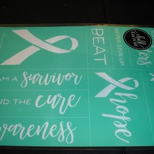 Chalk Couture Awareness Cancer Transfer Sheet NIP